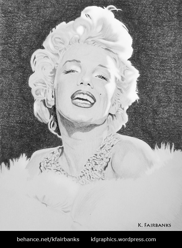 Drawing of Marilyn Monroe by K. Fairbanks