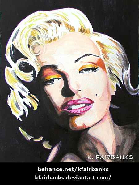 Marilyn Monroe painting by K. Fairbanks